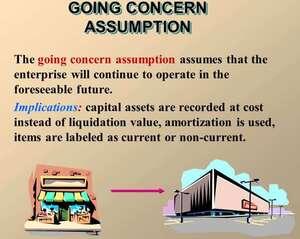 Going concern assumption