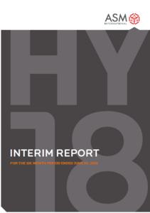 IAS 34 Interim financial statements