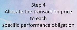 Step 4 Allocate the transaction price to each specific performance obligation