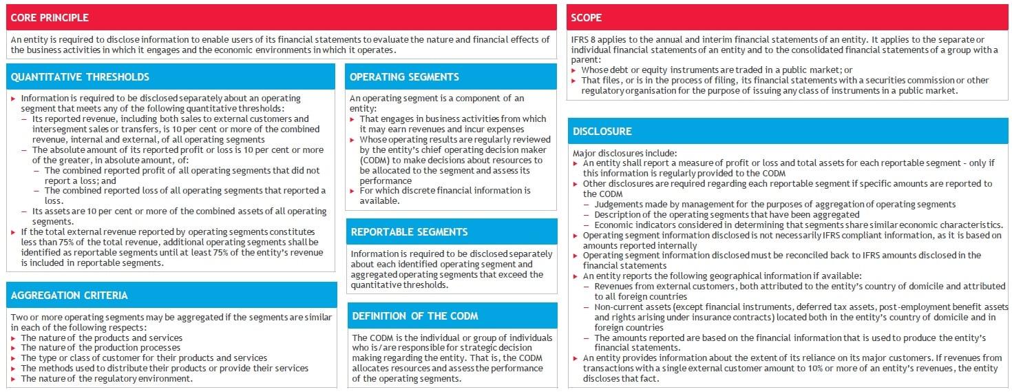 IFRS 8 Operating Segments Summary